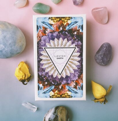Lavish Earth crystal affirmation deck